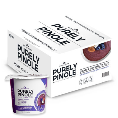 Image of Grab & Go Pinole Snack Cup, Maqui Berry + Coconut + Almond
